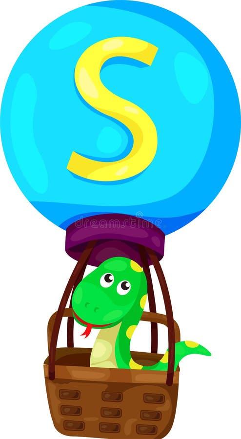 Alfabet S voor slang vector illustratie