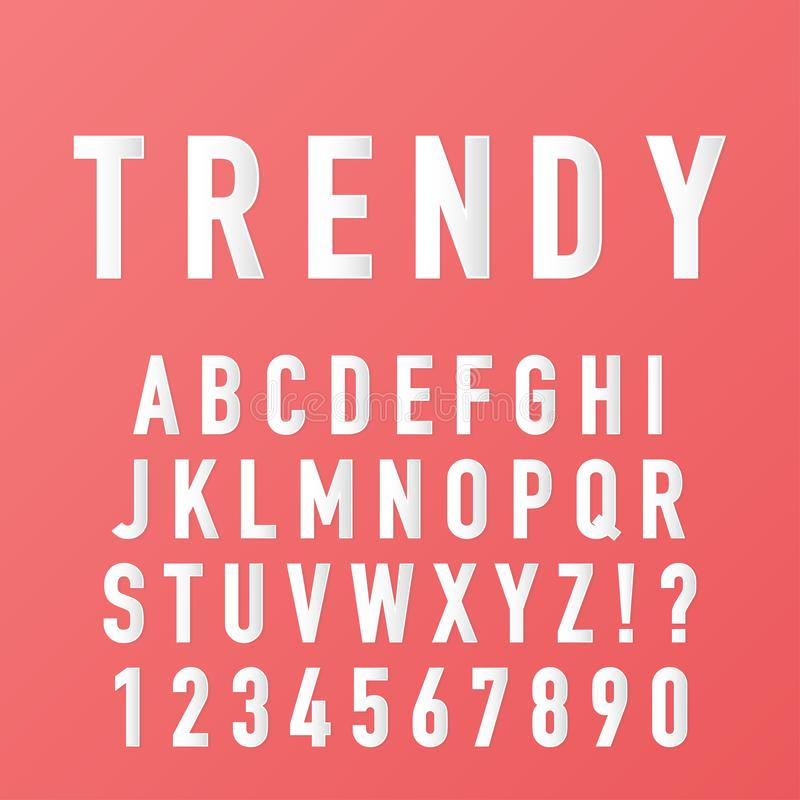 Alfabet som göras med den moderiktiga pappers- stilsortsvektorn vektor illustrationer