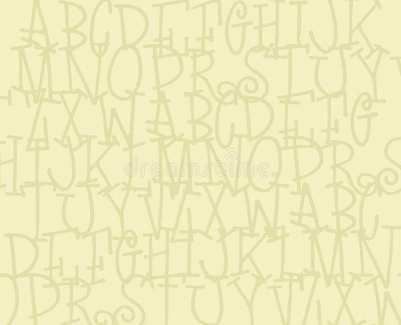 alfabet tło royalty ilustracja