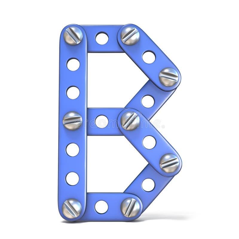 Download Alfabet Van Blauwe Het Stuk Speelgoed Van De Metaalaannemer 3D Die Brief B Wordt Gemaakt Stock Illustratie - Illustratie bestaande uit onderwijs, ijzer: 107704313