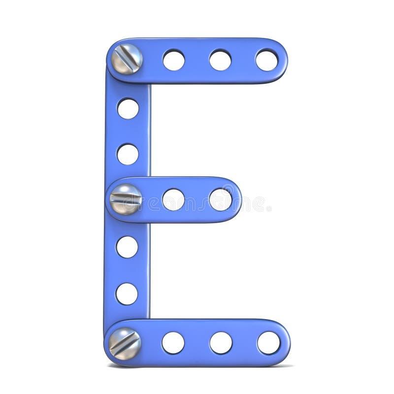 Download Alfabet Van Blauwe Het Stuk Speelgoed Van De Metaalaannemer 3D Die Brief E Wordt Gemaakt Stock Illustratie - Illustratie bestaande uit pictogram, industrieel: 107704339