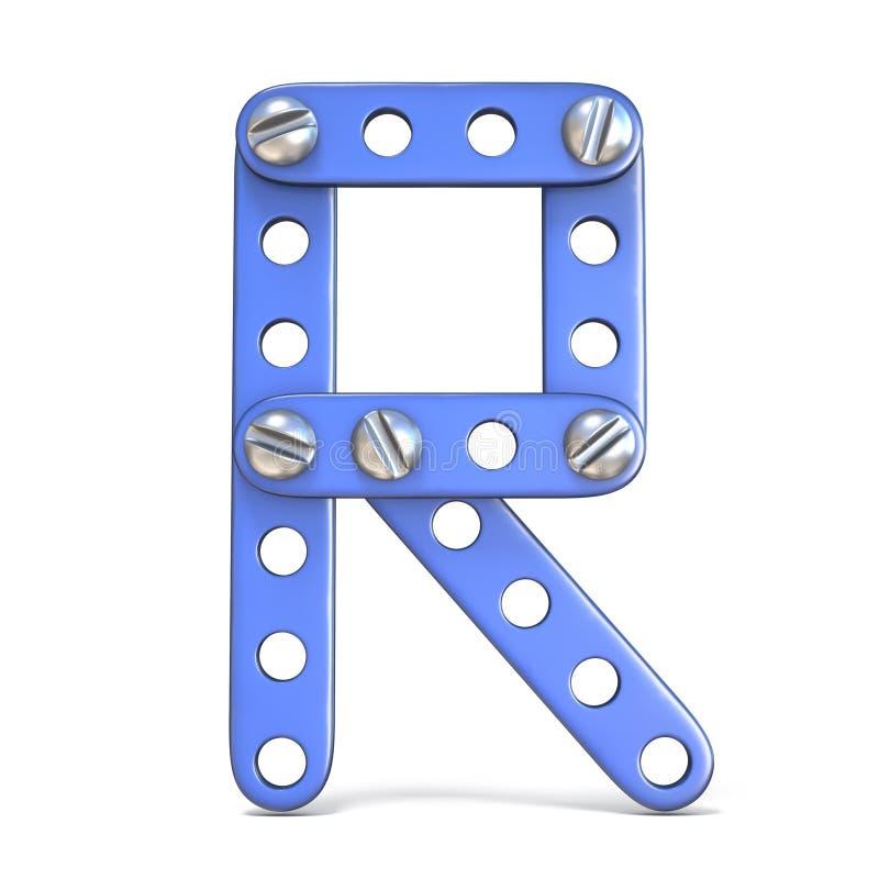 Download Alfabet Van Blauwe Het Stuk Speelgoed Van De Metaalaannemer 3D Die Brief R Wordt Gemaakt Stock Illustratie - Illustratie bestaande uit close, ontwikkeling: 107704341