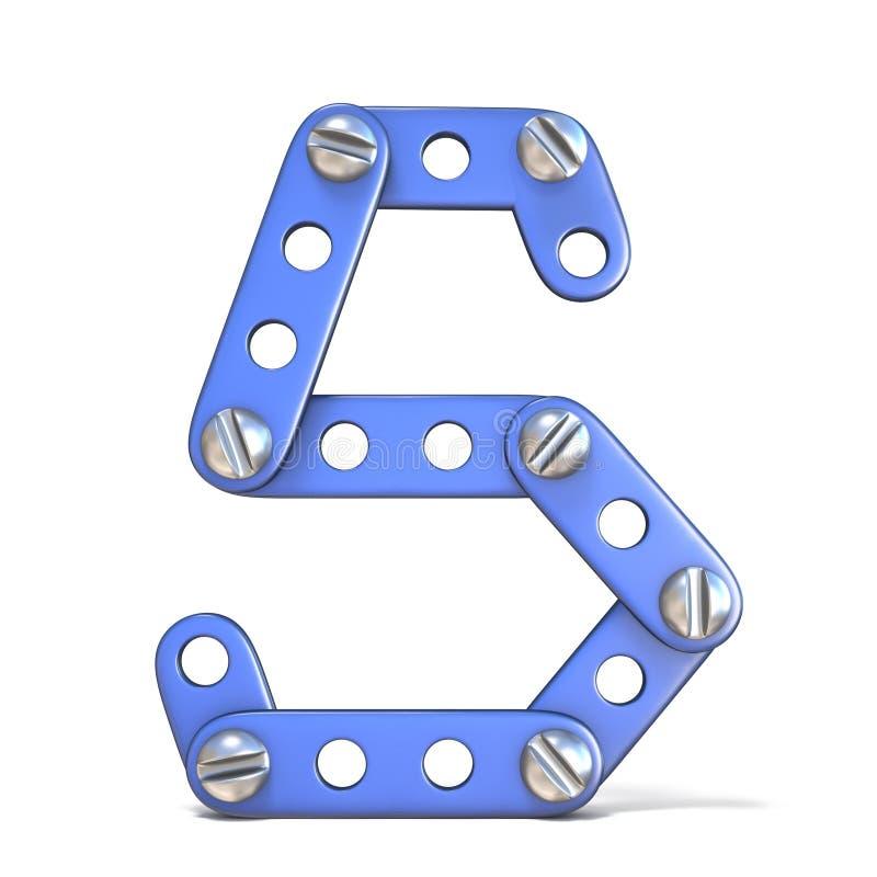 Download Alfabet Van Blauwe Het Stuk Speelgoed Van De Metaalaannemer 3D Die Brief S Wordt Gemaakt Stock Illustratie - Illustratie bestaande uit ontwerp, geïsoleerd: 107704356