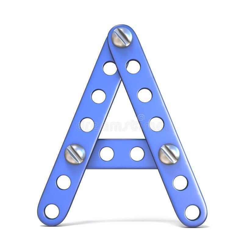 Download Alfabet Van Blauwe Het Stuk Speelgoed Van De Metaalaannemer 3D Die Brief A Wordt Gemaakt Stock Illustratie - Illustratie bestaande uit spel, techniek: 107704525