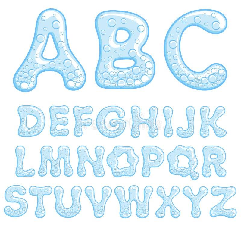 Alfabet van sodawater vector illustratie