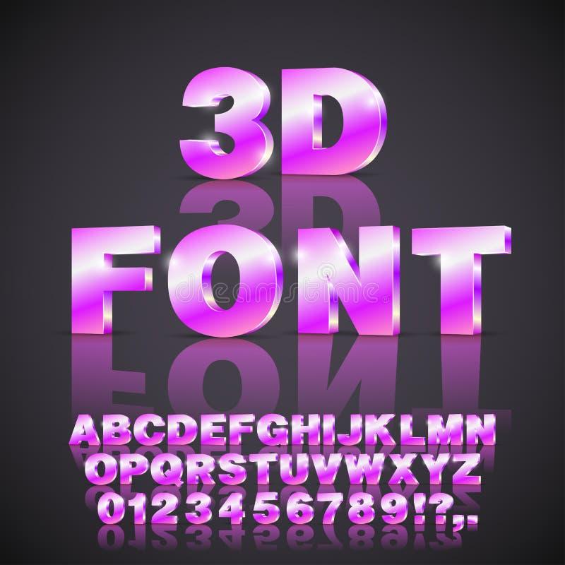 Alfabet vectordoopvont stock illustratie