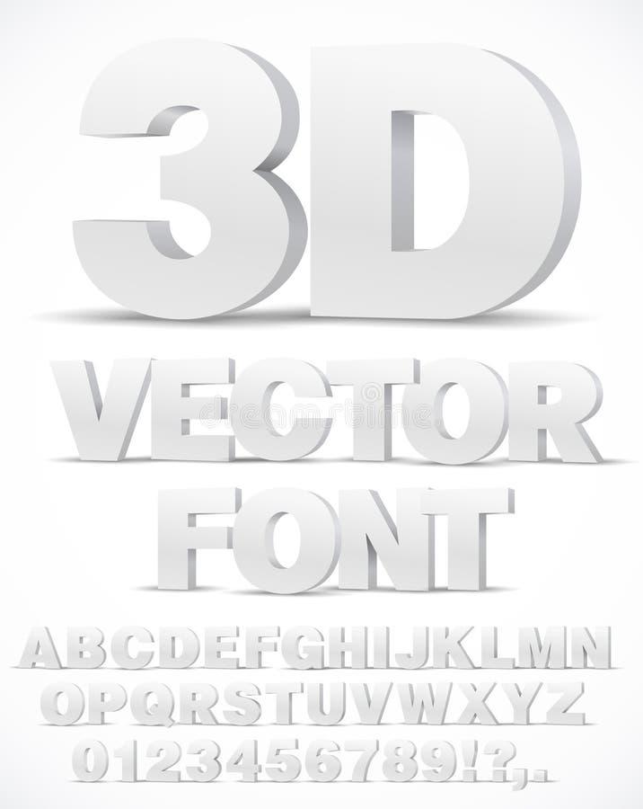 Alfabet vectordoopvont vector illustratie