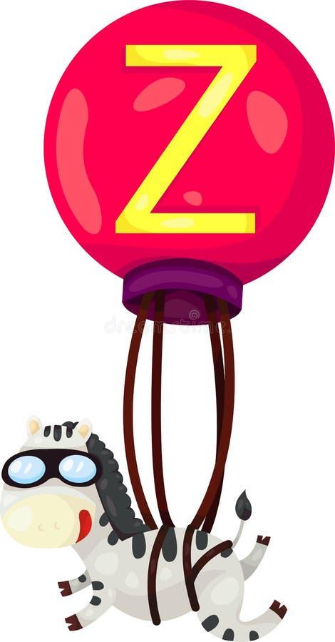 Alfabet Z voor zebra vector illustratie