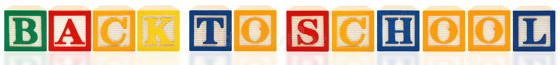 alfabetbacken blockerar skolan till fotografering för bildbyråer