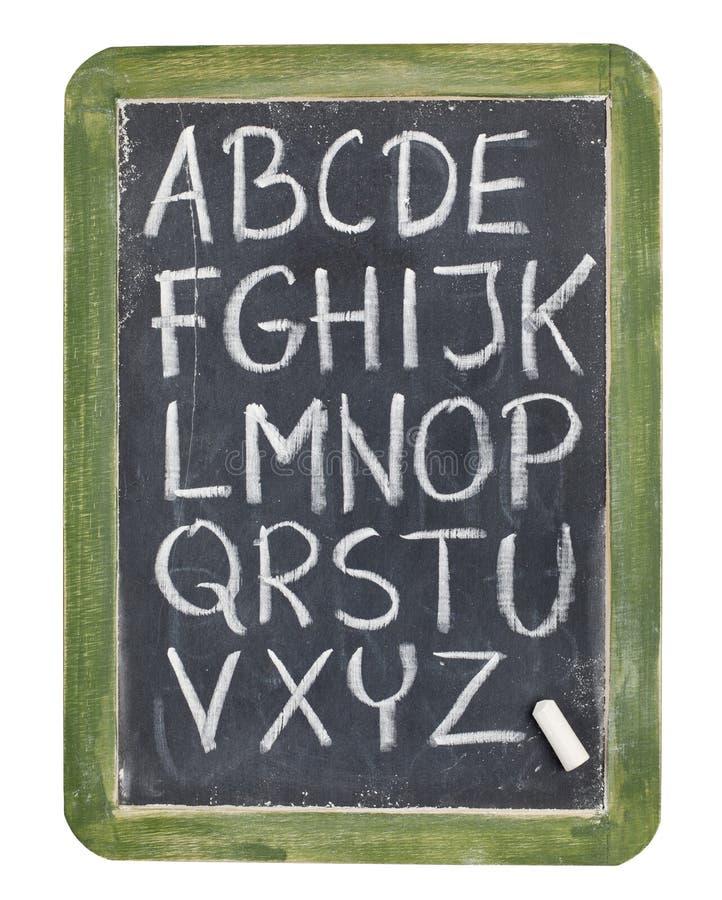 alfabetblackboardkrita arkivfoton
