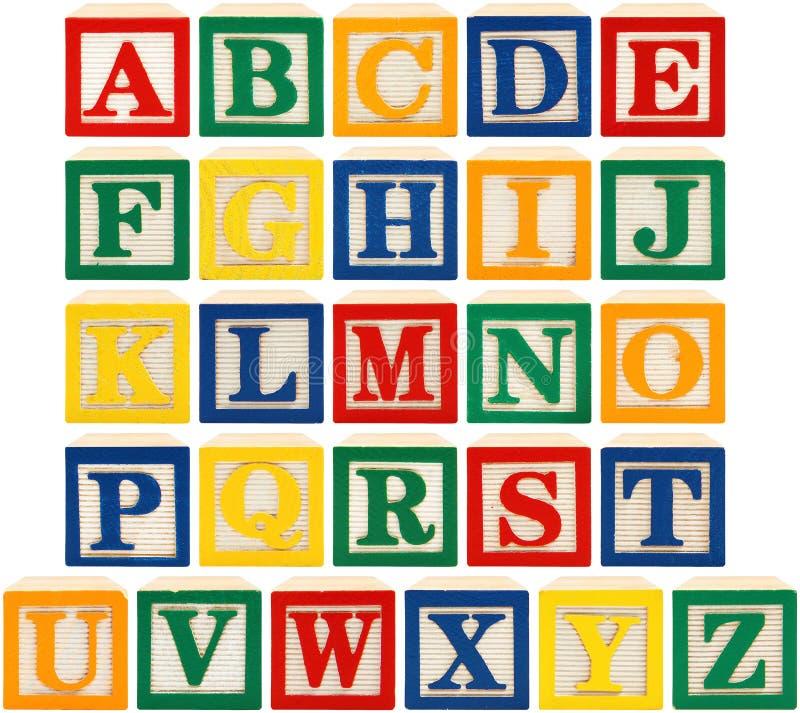 alfabetblock royaltyfri foto