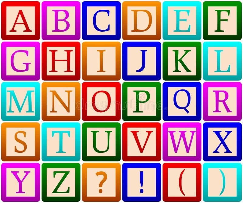 alfabetblock stock illustrationer