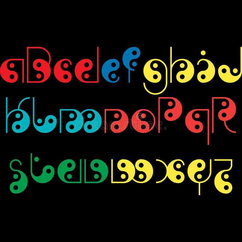Alfabetdesign för ungar och andra som är märkes- royaltyfri illustrationer
