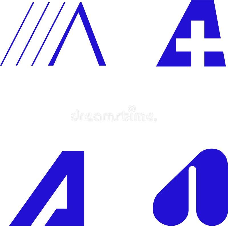 alfabetdesignelement stock illustrationer