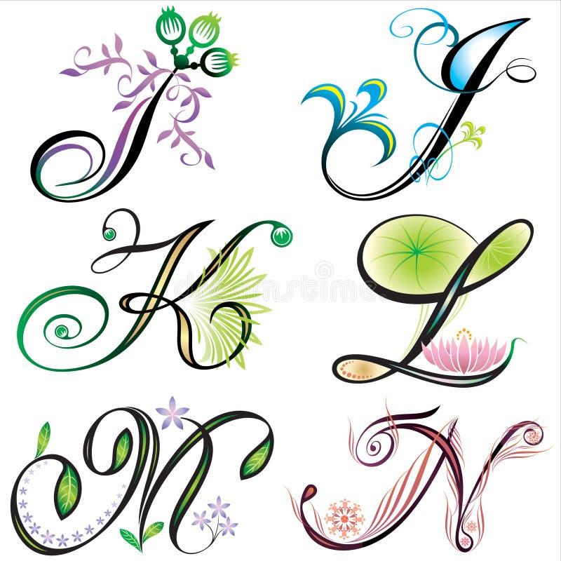 alfabetdesignelement s royaltyfri illustrationer