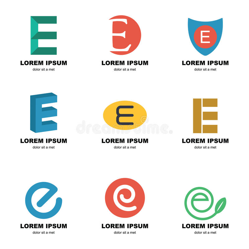 Alfabete embleem stock illustratie