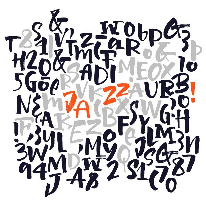 alfabetelement som scrapbooking vektorn affisch royaltyfri illustrationer