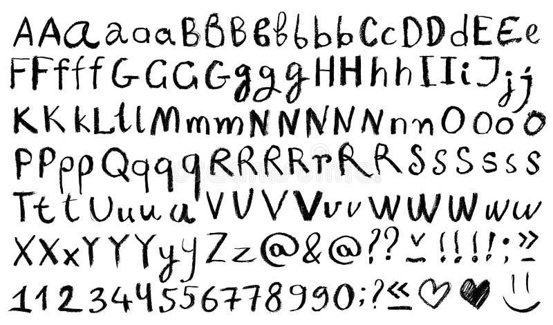 alfabetelement som scrapbooking vektorn M?rker och numrerar vektor illustrationer