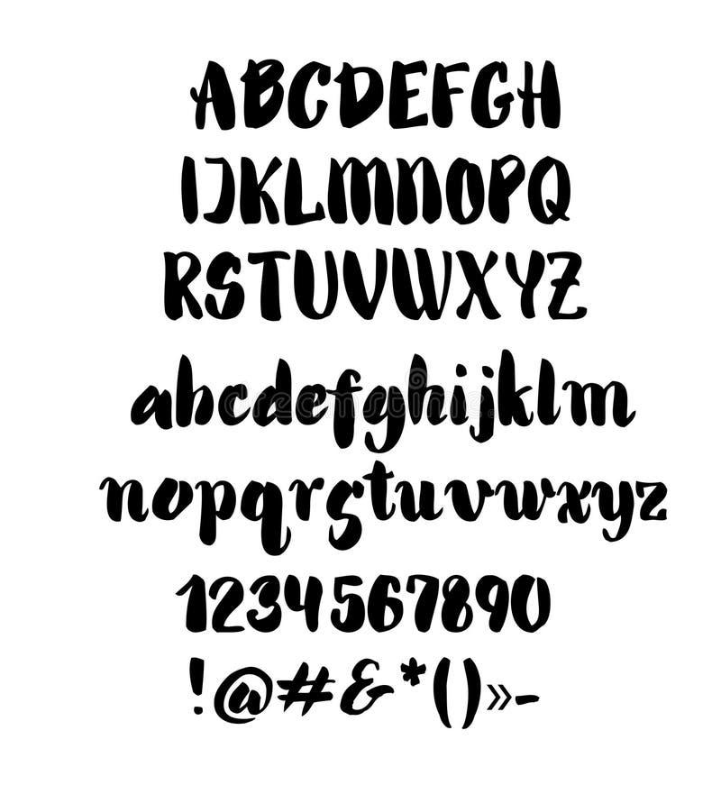 alfabetelement som scrapbooking vektorn tecknade handbokstäver stock illustrationer