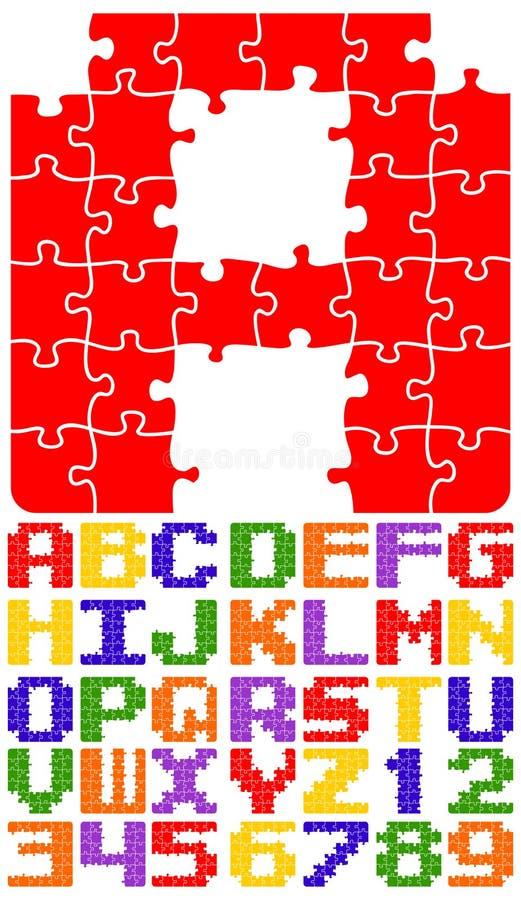 alfabeteps-pussel royaltyfri illustrationer