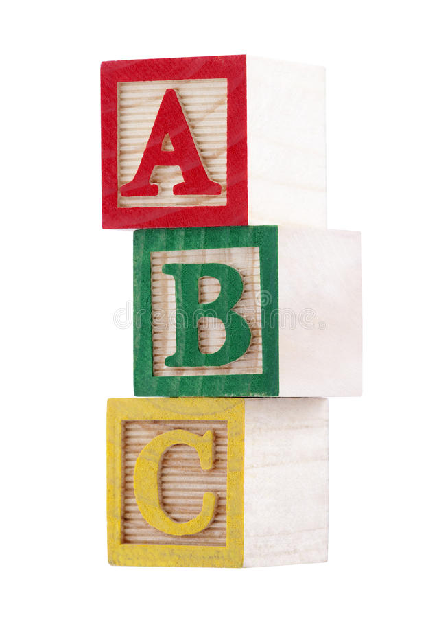 alfabetet blockerar trä royaltyfri fotografi