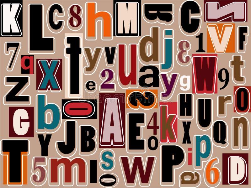 Alfabetet och numrerar vektor illustrationer
