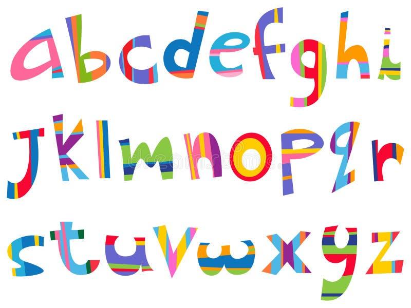 alfabetfallgyckel fäller ned royaltyfri illustrationer