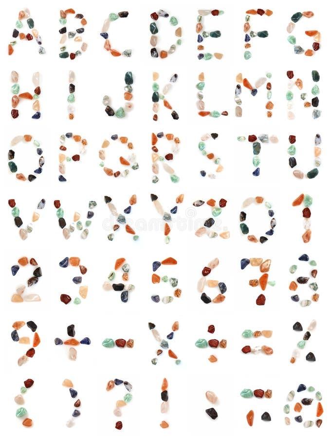 alfabetgems royaltyfri illustrationer