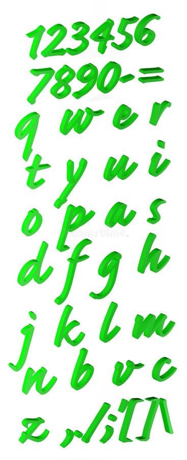 alfabetgreen royaltyfri illustrationer