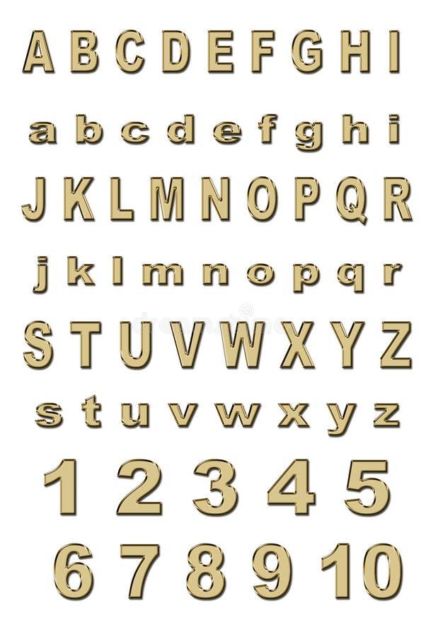 alfabetguld royaltyfria bilder