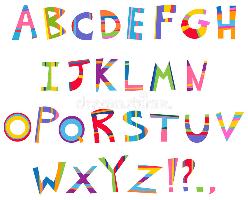 alfabetgyckel vektor illustrationer