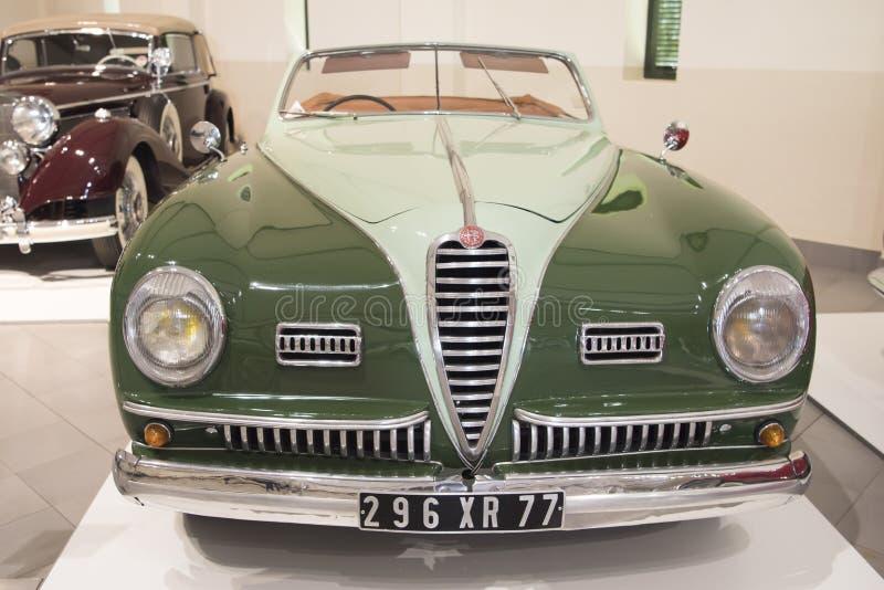 Alfabetisk Romeo Cabriolet royaltyfria bilder