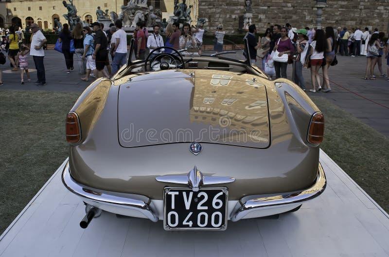 Alfabetisk Romeo Giulietta Spider 1955 arkivfoton