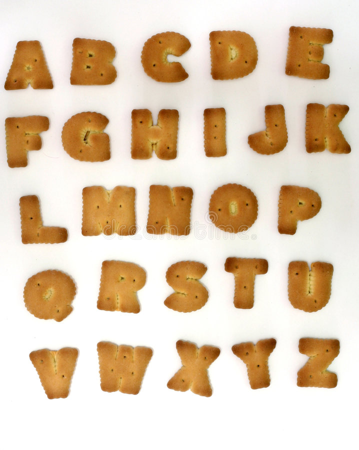 alfabetkexform arkivfoto