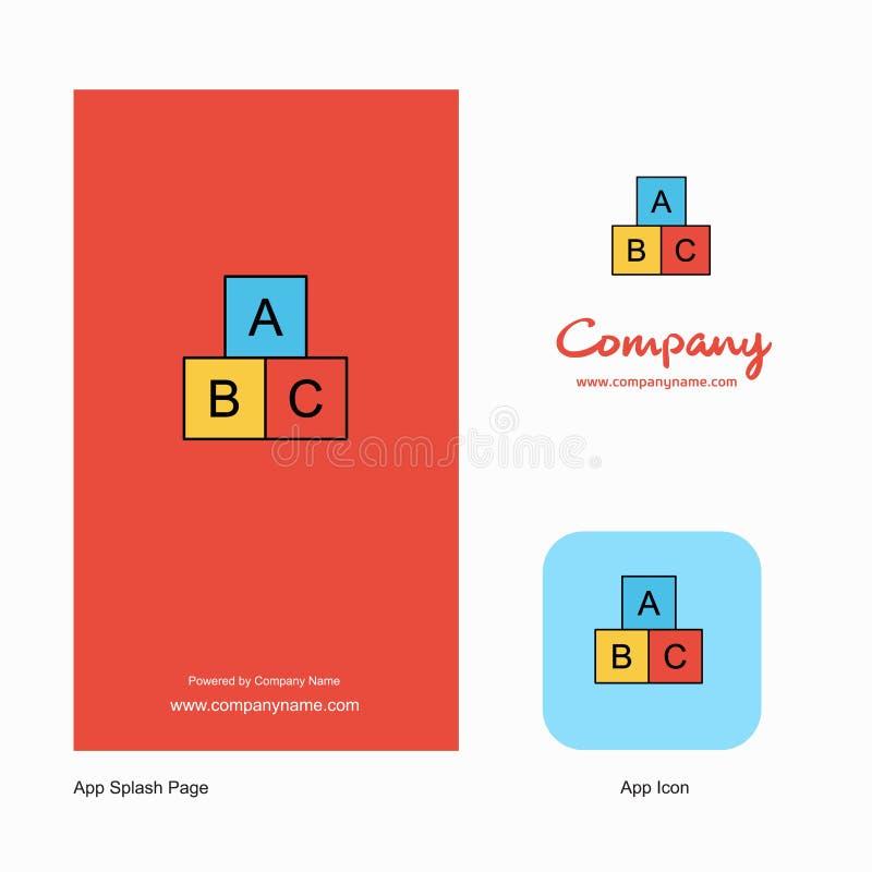 Alfabetkvarterföretag Logo App Icon och färgstänksidadesign r stock illustrationer