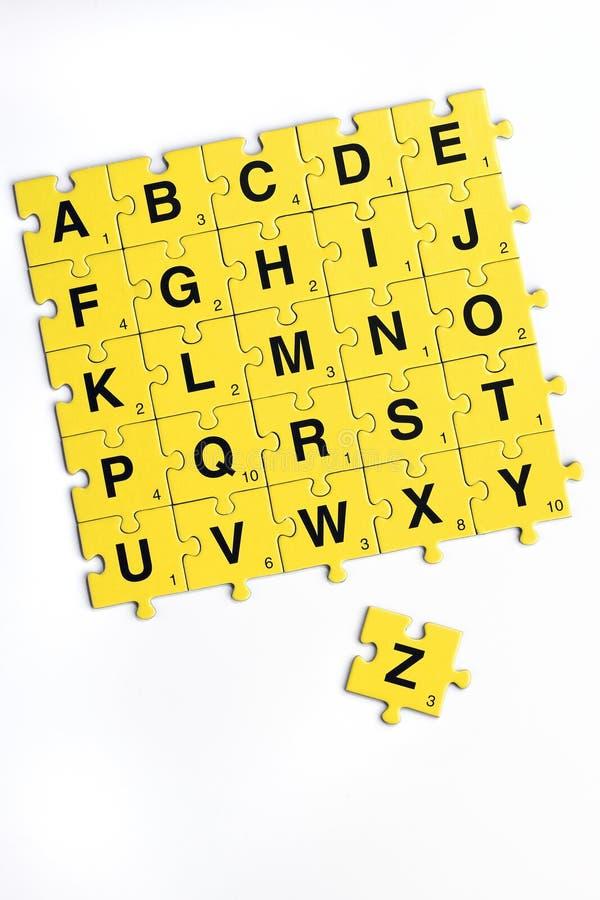 Alfabeto fotografie stock libere da diritti