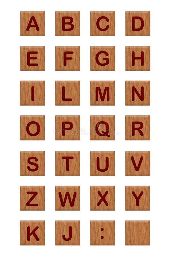 Alfabeto 2 de los bloques de madera foto de archivo