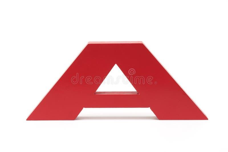 Alfabeto A imagen de archivo libre de regalías