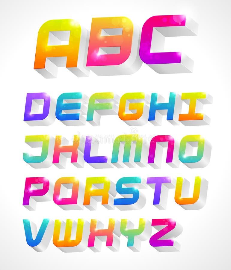 alfabeto 3d illustrazione di stock