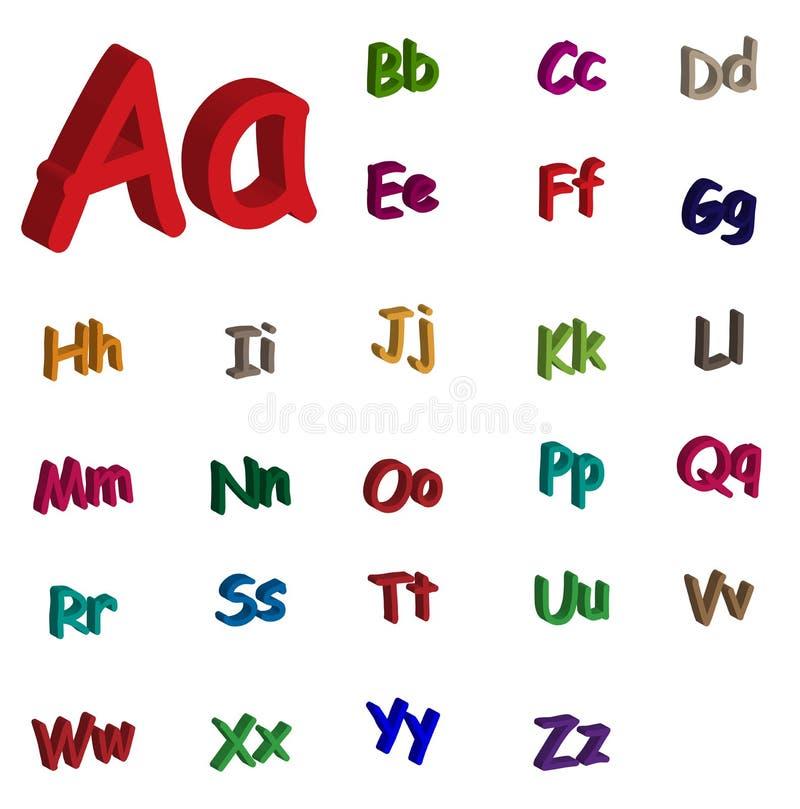 Alfabeto 3d Foto de archivo libre de regalías