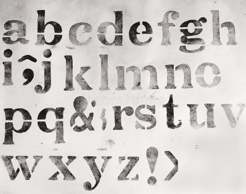 Alfabeto illustrazione di stock