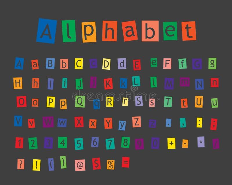 Alfabeto ilustração do vetor