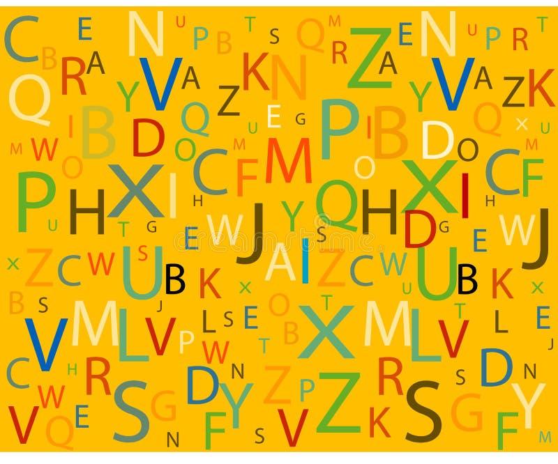 Alfabeto ilustração royalty free
