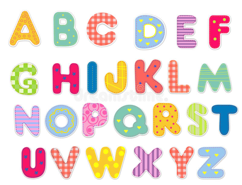 Alfabeto abstracto libre illustration