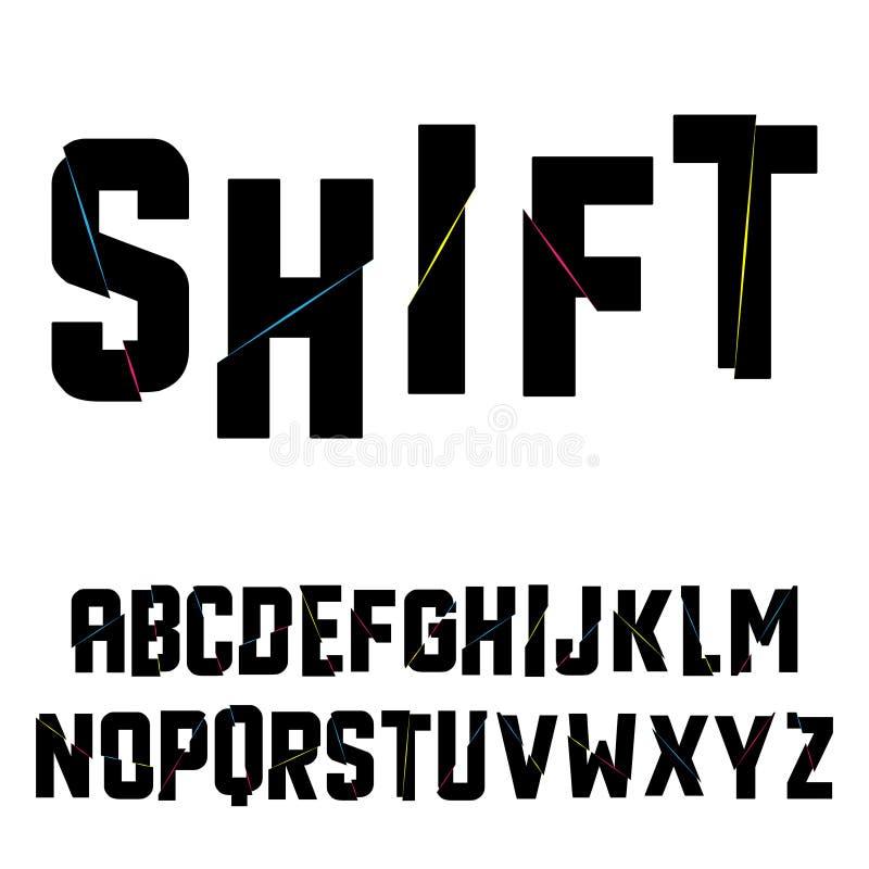 Alfabeto abstrato da SHIFT ilustração stock