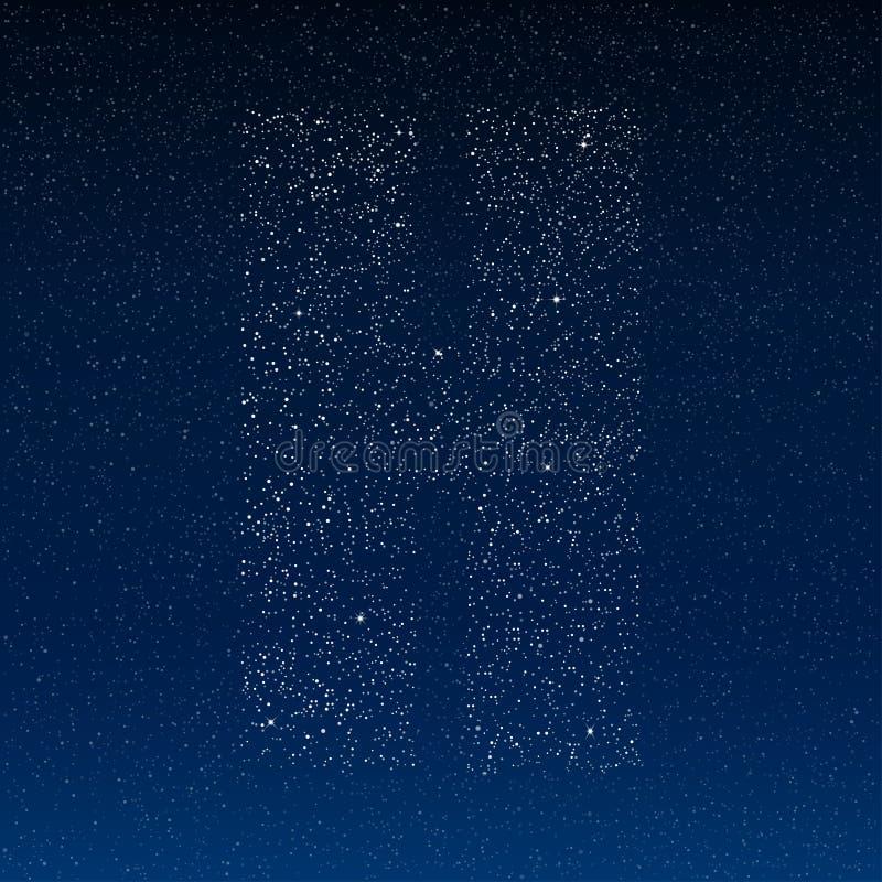 Alfabeto abstrato do vetor das estrelas O céu estrelado ilustração do vetor