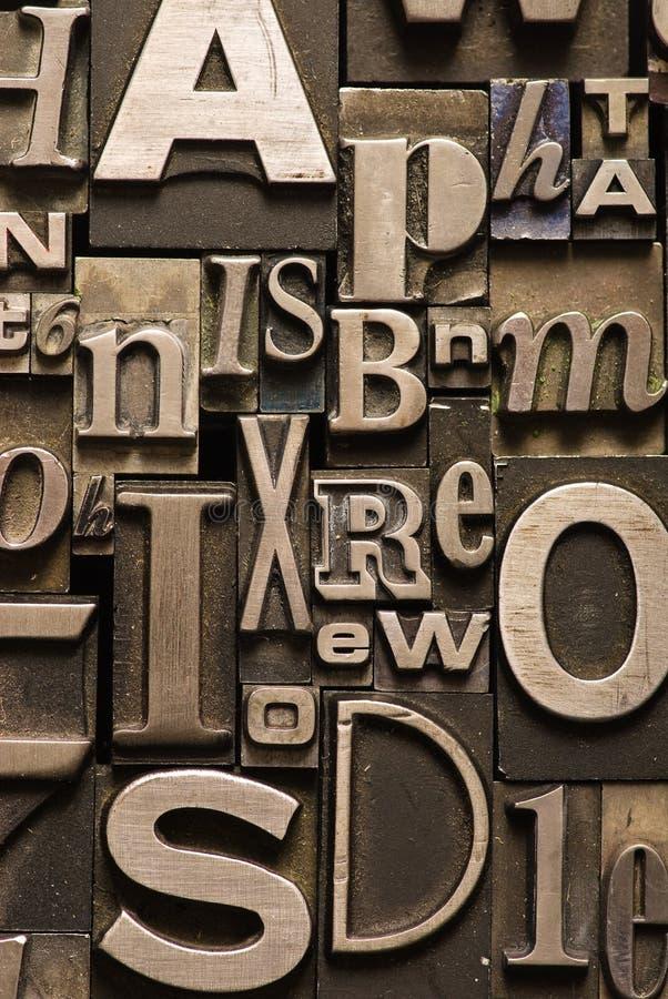 Alfabeto aleatório foto de stock