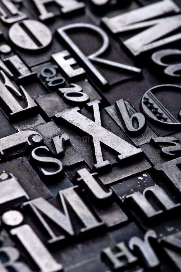 Alfabeto aleatório imagens de stock
