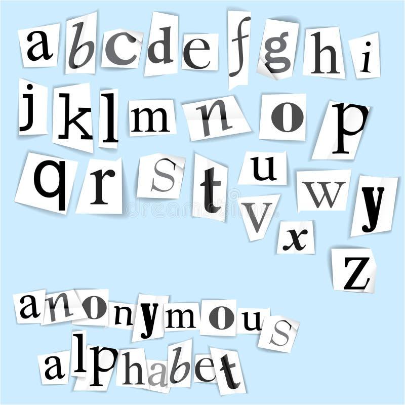 Alfabeto anónimo libre illustration