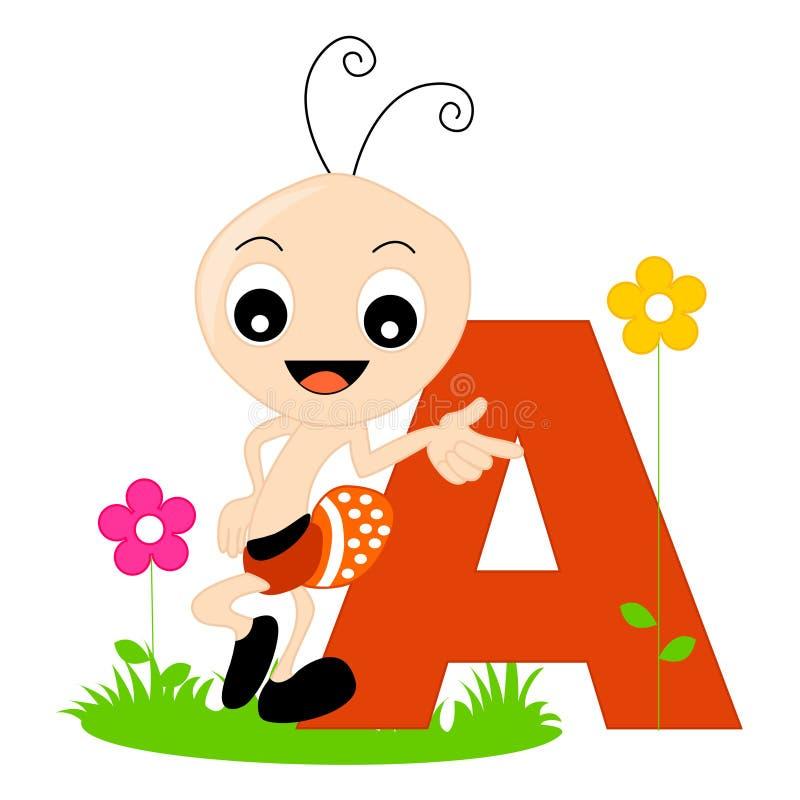 Alfabeto animal - A ilustração stock
